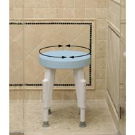 Ableware 727152100 Rotating Round Shower Stool by Maddak