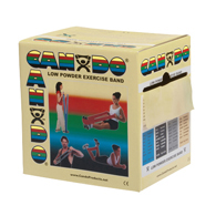CanDo Low Powder Exercise Bands-50 Yard Rolls